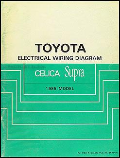 1985 toyota celica supra wiring diagram manual original rh faxonautoliterature com 1986 Toyota Supra 1980 Toyota Supra