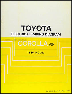 1985 toyota manuals page 2 1985 toyota corolla rwd wiring diagram manual original gt s sr5