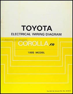 1985    Toyota       Corolla    RWD Wiring    Diagram    Manual Original GTS    SR5