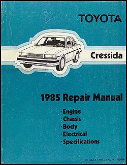 1985 Toyota Cressida Repair Shop Manual Original