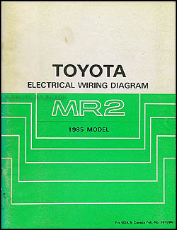 1985 Toyota MR2 Wiring Diagram Manual Original