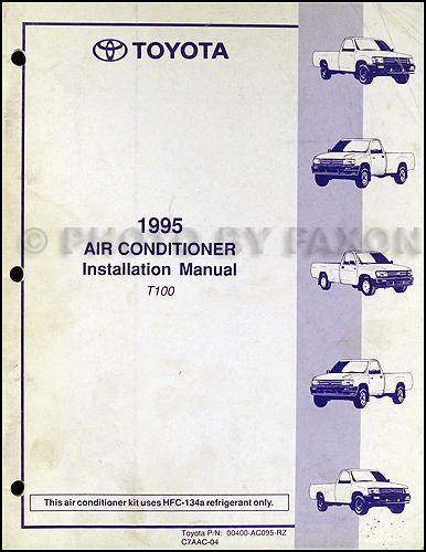 1995 Toyota T100 Repair Shop Manual Original 2 Volume Set