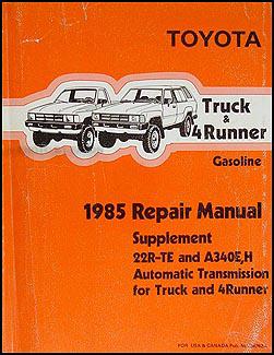 1985 toyota pickup truck 4runner auto transmission repair shop1985 toyota pickup truck 4runner repair manual original supplement