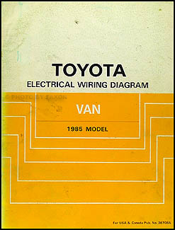 1985 toyota wiring diagram manual original