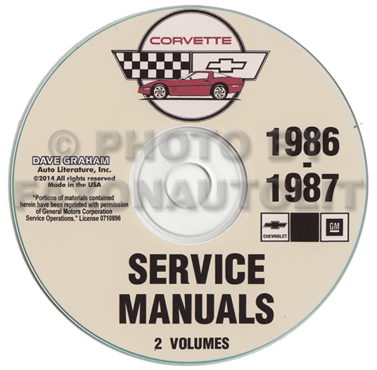 1986 1987 chevrolet corvette repair manual on cd rom rh faxonautoliterature com New Corvette New Corvette