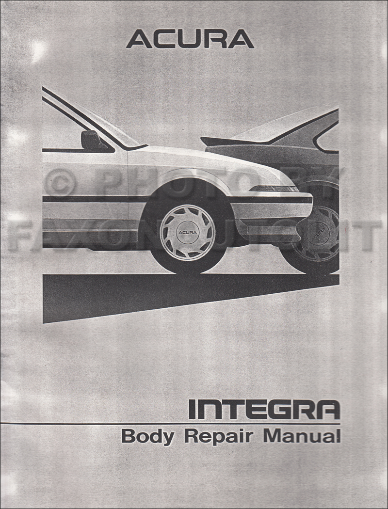 1990-1993 Acura Integra Original Body Repair Manual