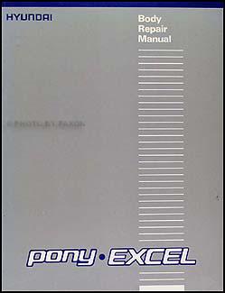 1986 1990 hyundai excel pony body repair shop manual. Black Bedroom Furniture Sets. Home Design Ideas