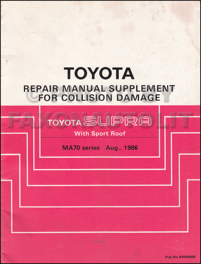 1989 Toyota Supra Wiring Diagram Manual Original