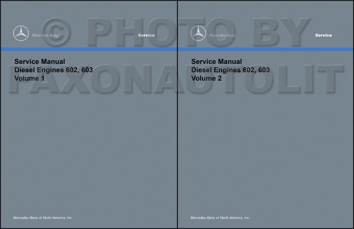 1984-85 Mercedes 601 Engine Reprint Repair Manual