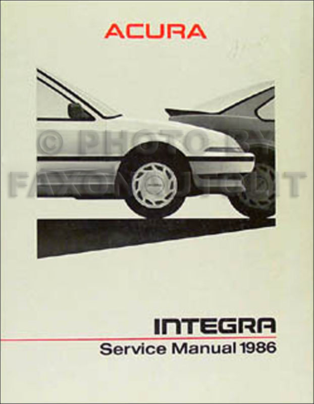 1986 Acura Integra Shop Manual Original