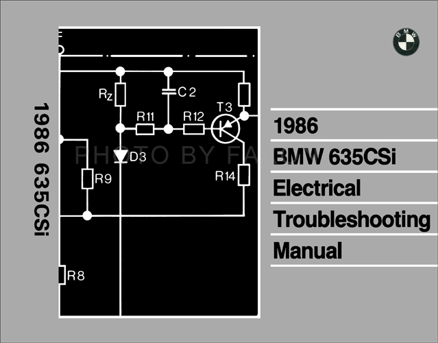 1986 bmw 635csi electrical troubleshooting manual reprint rh faxonautoliterature com