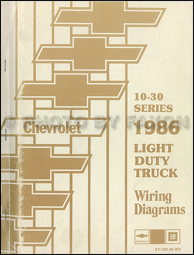 1986 chevrolet ck wiring diagram original pickup suburban blazer rh faxonautoliterature com 1986 chevy truck alternator wiring diagram 1986 chevy truck starter wiring diagram
