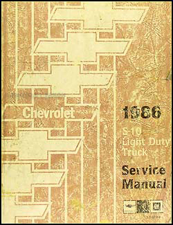 1986 GMC S15 Chevy S10 Wiring Diagram Original Pickup ...