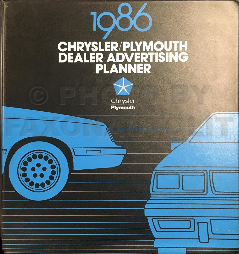 1986 MoPar FWD Car Repair Shop Manual 3 Vol Set