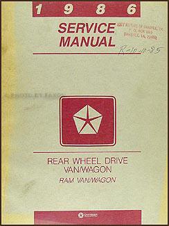 1986 dodge ram van & wagon repair shop manual original b150 b350 on wiring diagram 1986 dodge ram Alt Wiring Diagram for 1986 Dodge Ram 1986 Merkur Xr4ti Wiring Diagram