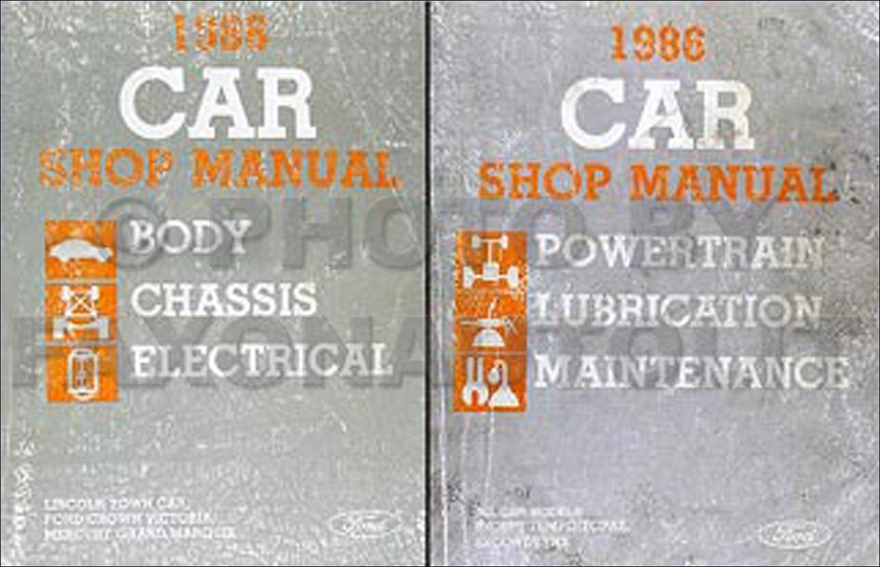 1986 Tempo Escort EXP Topaz Lynx Repair Manual Original 2 Volume Set