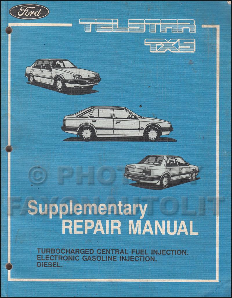 1986 Ford EXP Repair Manual Original Supplement