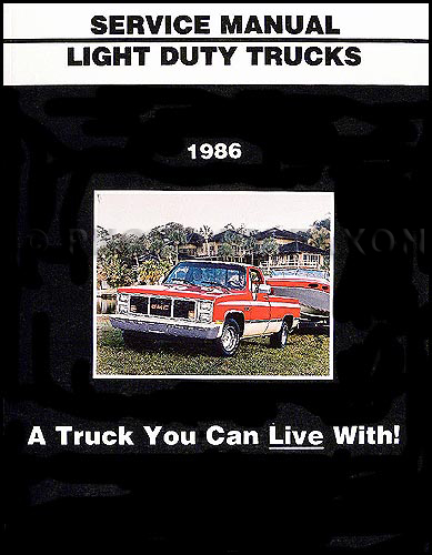 1986 GMC Shop Manual Original Van/Pickup Truck/Suburban/Jimmy