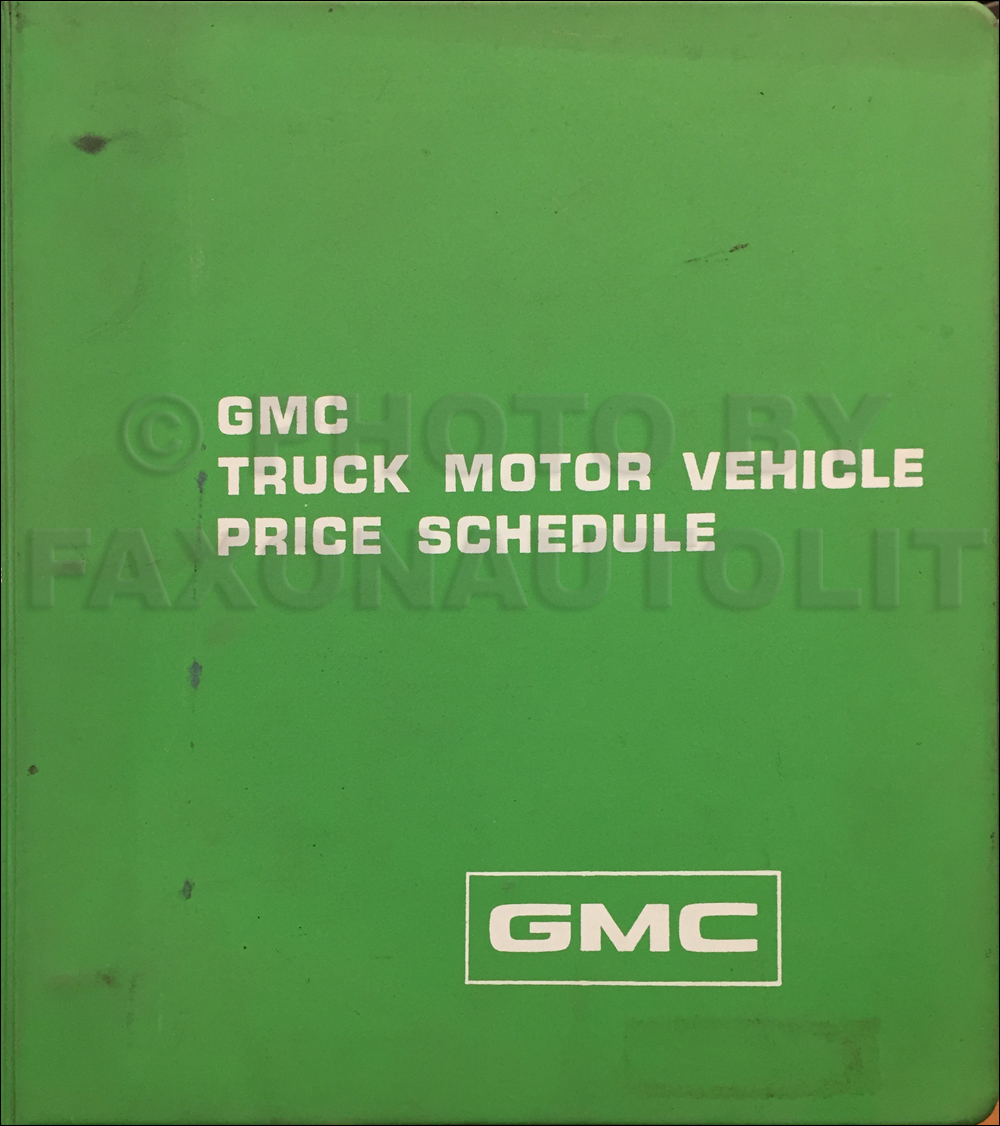 1986 Gmc 1  2  3  4   U0026 1 Ton Truck Overhaul Manual Original