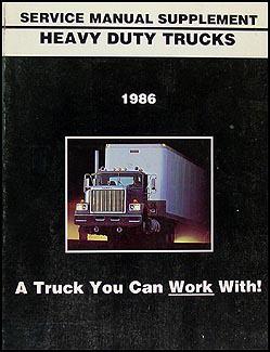 1986 GMC Heavy Duty Truck Shop Manual Original Supplement