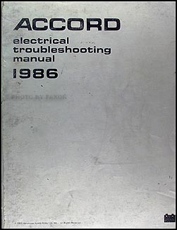 1986 Honda Accord Electrical Troubleshooting Manual Original