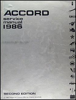 1986 honda accord repair shop manual original rh faxonautoliterature com 1986 honda accord service manual download Honda Accord Repair Manual PDF