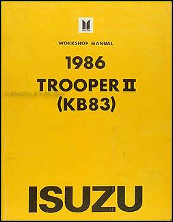 1986IsuzuTrooperORM 1986 isuzu trooper ii repair shop manual 1996 Isuzu Trooper Fuse Box Diagram at edmiracle.co