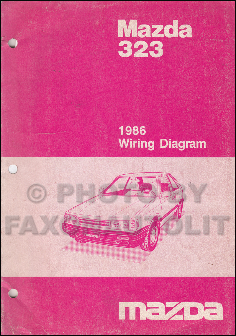 1986 Mazda 323 Repair Shop Manual Original