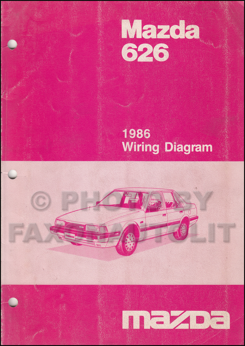 Mazda Gf Wiring Diagram Library Mr2 Central Locking 1986 626 Manual Original Rh Faxonautoliterature Com