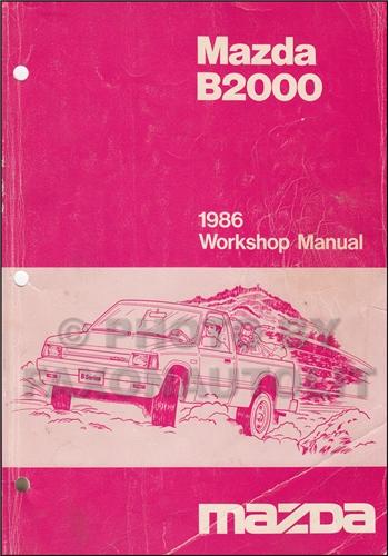 1988 mazda b2000 manua
