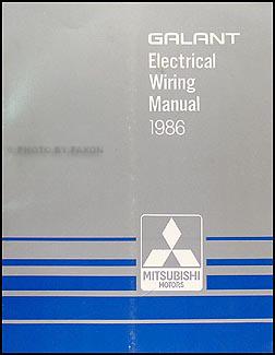 1986 mitsubishi galant wiring diagram manual original rh faxonautoliterature com
