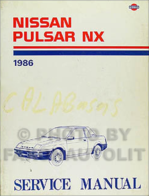 1986 Nissan Pulsar Nx Shop Manual 86 Original Dealer