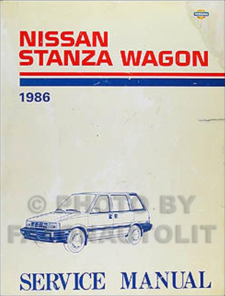 1986 nissan stanza wagon 4wd repair shop manual original supplement. Black Bedroom Furniture Sets. Home Design Ideas