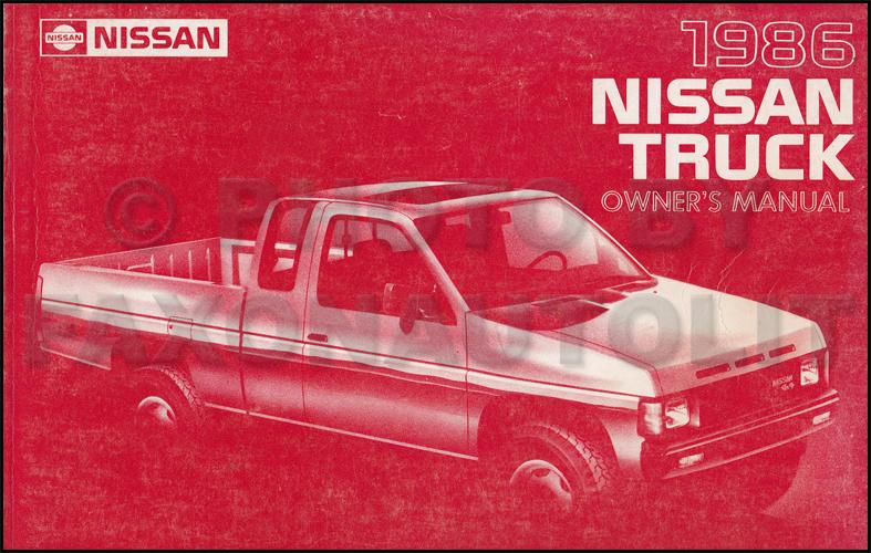 1986 5 nissan hardbody truck owner s manual original d21 model rh faxonautoliterature com 1986 Nissan Maxima 1984 Nissan Maxima