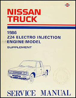 1986 nissan 720 truck z24 electro injection engine repair shop manual supp