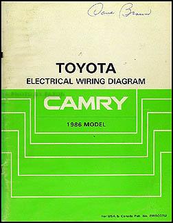 1986 toyota camry wiring diagram manual original rh faxonautoliterature com