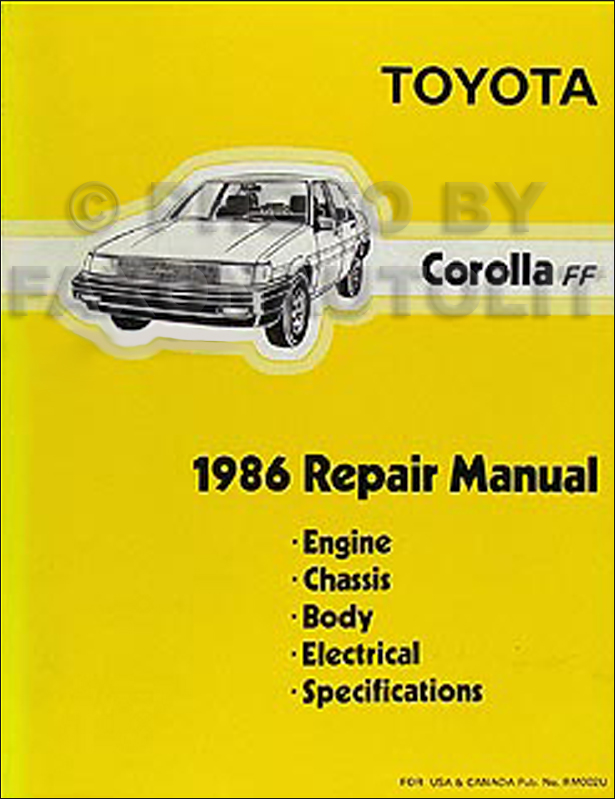 1985 1988 toyota corolla fx16 body collision manual original related products sciox Images
