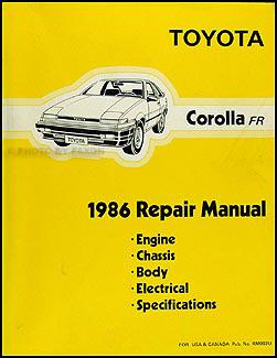 1986 toyota corolla rwd repair shop manual original gt s sr5 rh faxonautoliterature com 1989 toyota corolla owners manual 1989 toyota corolla owners manual