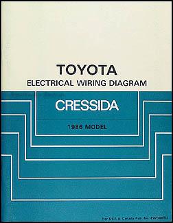 1986 toyota cressida wiring diagram manual original rh faxonautoliterature com 1986 Toyota Camry Wiring Diagram 1986 Toyota Corolla Wiring Diagram