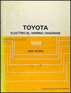 1986    Toyota       Van       Wiring       Diagram    Manual Original
