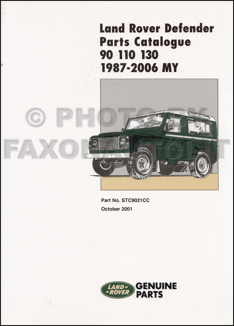 1987 2006 Land Rover Defender Parts Book Reprint