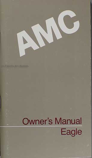 1987 amc eagle owner u0026 39 s manual original