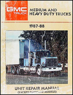 1987 1988 gmc medium & heavy truck overhaul manual original gmc truck trailer wiring diagrams 1987 gmc medium duty truck wiring diagram #14