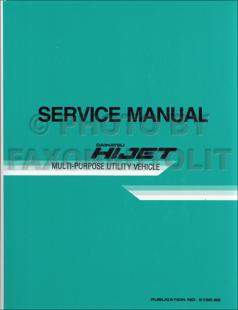 1987 1989 daihatsu hijet repair shop manual original s80 rh faxonautoliterature com daihatsu hijet 1.3 workshop manual Daihatsu Hijet Parts Diagrams