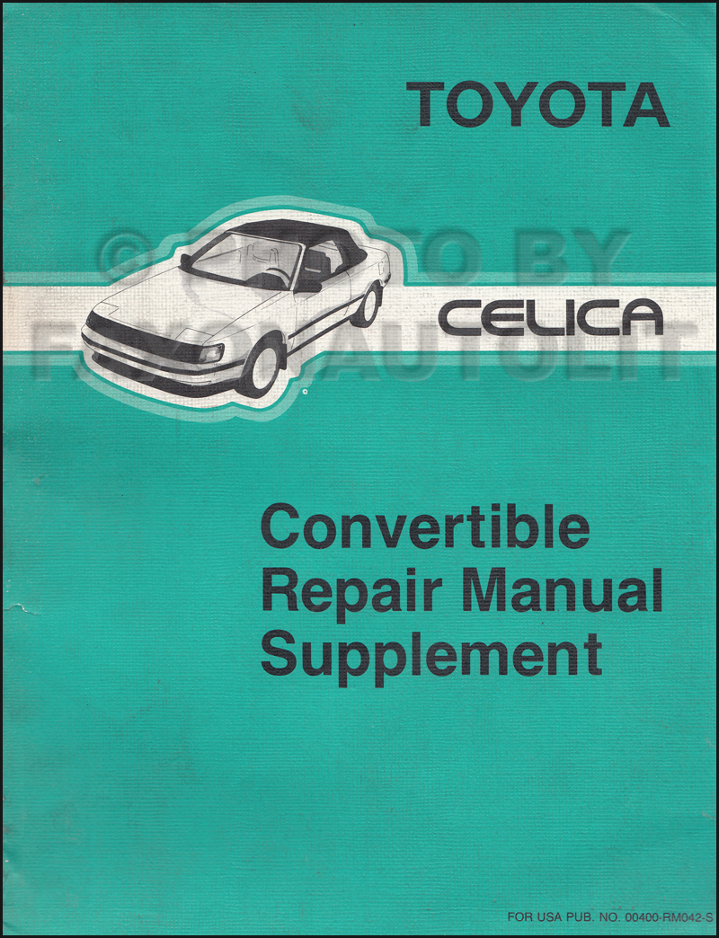 1989 Toyota Celica Gt Convertible Owners Manual