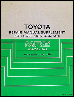 1987 1989 toyota mr2 t top body collision manual supplement original rh faxonautoliterature com 1991 Toyota MR2 1991 Toyota MR2