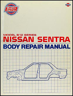 1987 1990 nissan sentra body repair shop manual original rh faxonautoliterature com 1985 Nissan Sentra 1989 Nissan Sentra