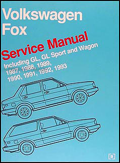 1987-1993 VW Fox Bentley Repair Manual Original