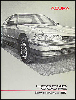 1987 Acura Legend Coupe Shop Manual Original
