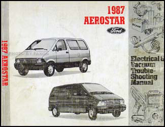 1987AerostarEVTM 1987 ford aerostar original repair shop manual 1997 ford aerostar wiring diagram at mifinder.co